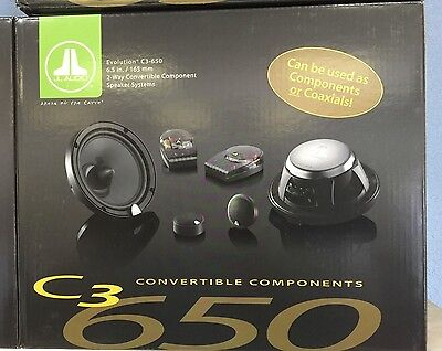 """JL AUDIO C3-650 2 WAY 6.5"""" INCH CONVERTIBLE CAR SPEAKERS COMPONENT SYSTEM C3650"""