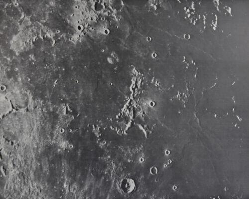 1960 Lunar Moon Map Photo Riphaeus E5-b Lick Observatory Plate L21 Craters