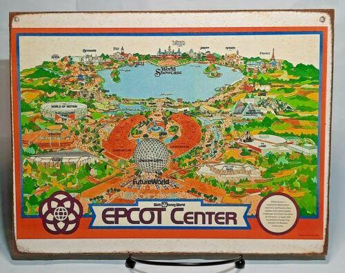EPCOT CENTER MAP Handmade Walt Disney World vintage sign