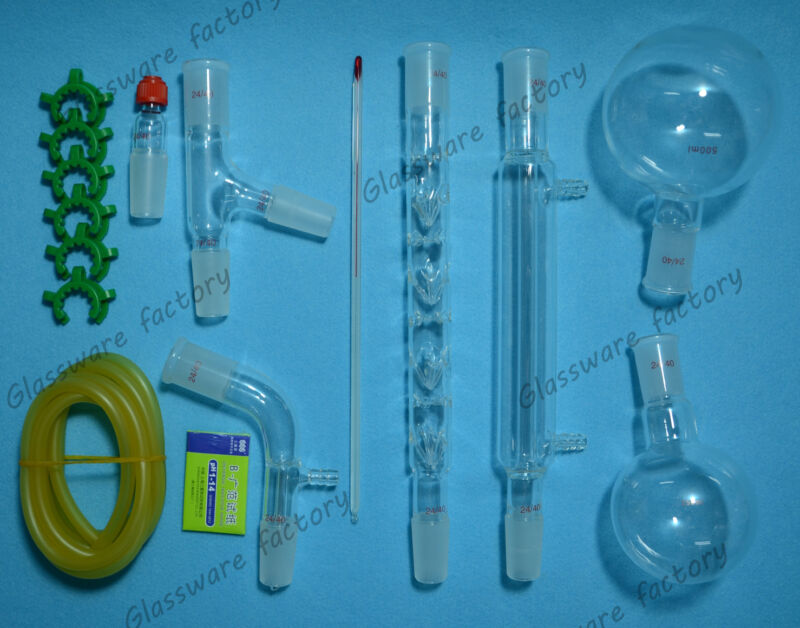 500ml,24/40,Distillation Apparatus,lab rectifying Kit,lab glassware kit 24/40