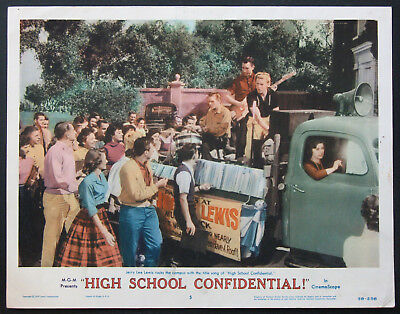 HIGH SCHOOL CONFIDENTIAL JERRY LEE LEWIS BEST CARD 1958 LC#5