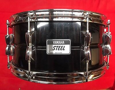Yamaha Black Steel Snare Drum 6.5x14 inExcellent Condition with Gig Bag