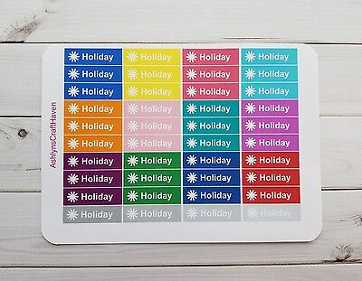 Holiday Planner (40 Holiday Planner Stickers- Perfect For Erin Condren, Happy Planner,)