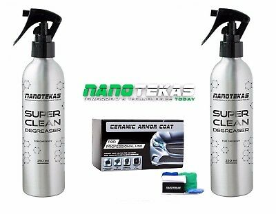 Nano Car Body Paint Protection Ceramic Armor Coat Set 9H Paint Prepare Degreaser