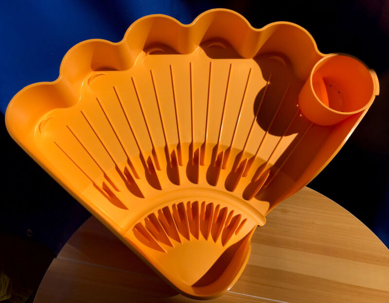 Tupperware Large Shell Easy-Dry Dish Drainer  Yellow New