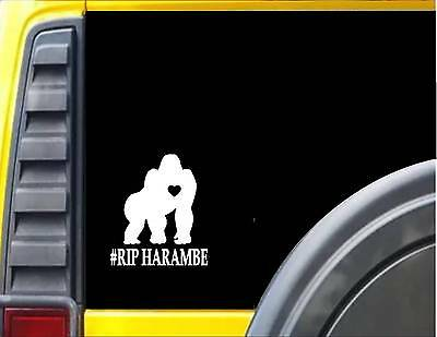 Ohio State Buckeyes Home Decor Gorilla Harambe RIP *F455* 6x6 Inch Decal Sticker