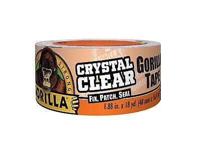 Gorilla Glue 6060002 Crystal Clear Duct Tape 1.88 Inch X 18yd Clear