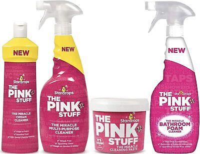 The Pink Stuff - Cleaning Paste, Multi-Purpose Spray, Bathroom & Cream Cleaner