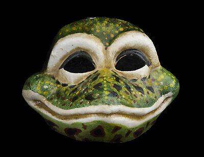 Mask from Venice Venetian Frog in Paper Mache Handmade Single - 1997 V0