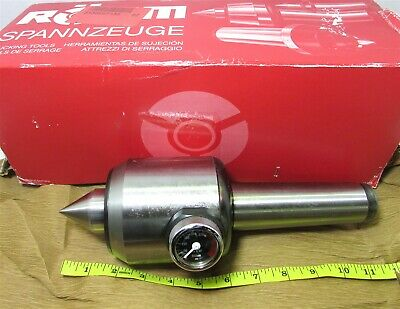Rhm 207442 Type 652-ac Revolving Tailstock With Pressure Gage Morse Taper