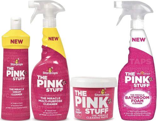 The Pink Stuff Bundle: Paste, Multi-Purpose Spray, Cream Cleaner, Bathroom Spray