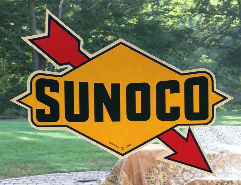 "Vintage NOS Large 13"" SUNOCO Service Station Garage Blend-O-Matic Gas Pump Decal"