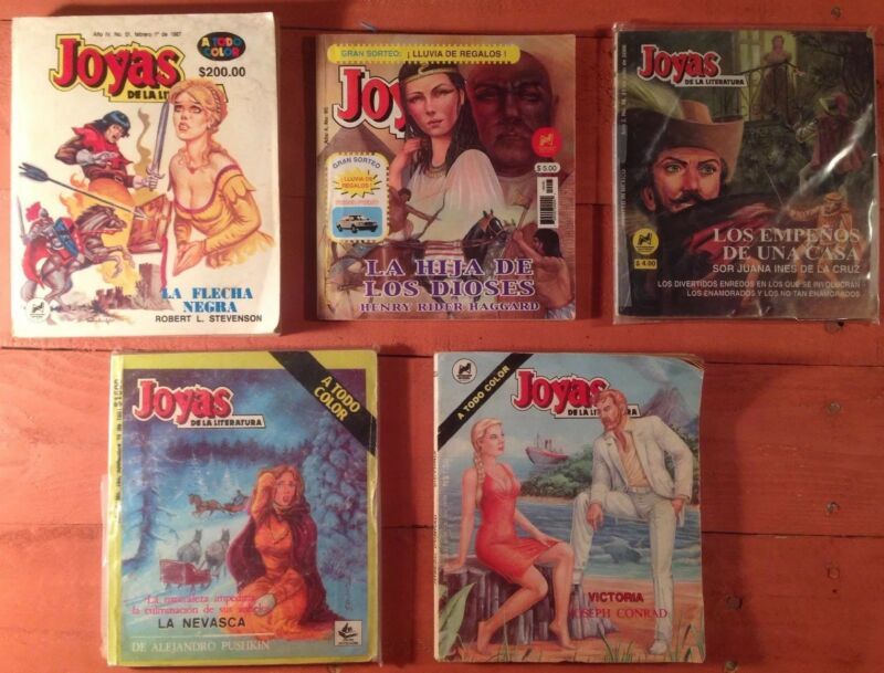 Joyas De La Literatura Mexican Comic In Color Lot Of 5