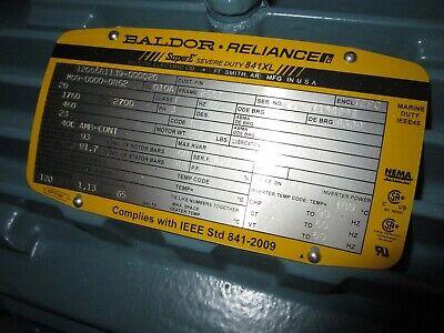 Baldor Ecp82334t-4 Modified Electric Motor - 20 Hp 1760 Rpm 60 Hz - New