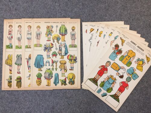 Vintage Paper Dolls, Poupees a Habiller, Imagerie Pellerin d