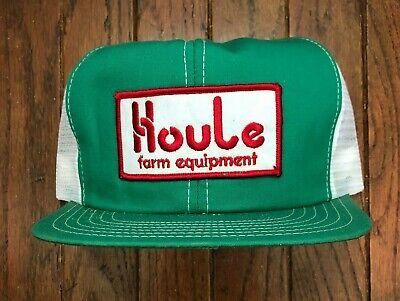 Vintage Houle Farm Equipment Mesh Trucker Hat Snapback Hat Baseball Cap Patch