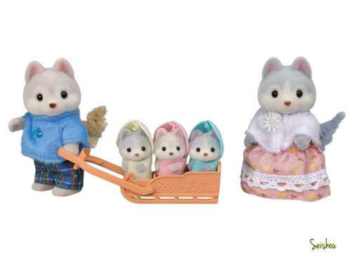 Sylvanian Families doll husky family FS-41 Japan