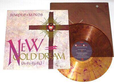 SIMPLE MINDS New Gold Dream LP 1982 RARE Gold MARBLE vinyl NM 80s wave a-ha ABC