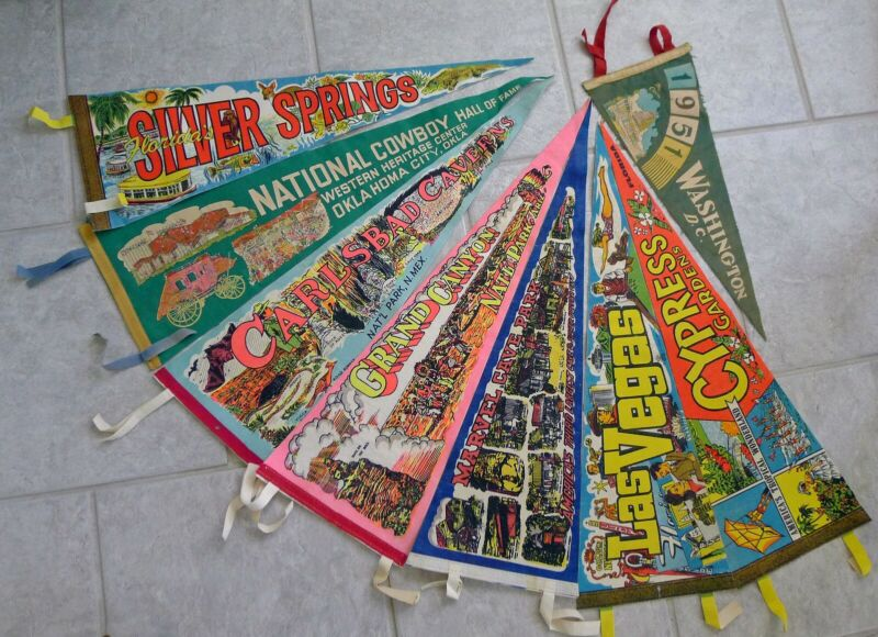 Selection of Vintage Pennants