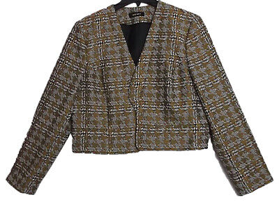 Nine West Women's Night Lights Gold Evening Office Wear Tweed Jacket NWT Size 14 for sale  Shipping to India