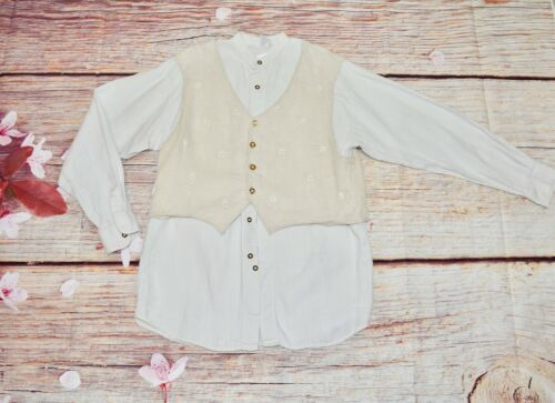 Bavarian shirt  Austrian shirt Trachten Loden shirt Size 40