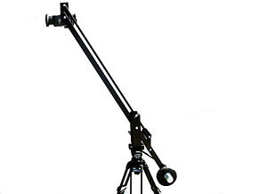 4 Foot Small Camera Crane Jib, for DSLR's Film Video, Free bracket for monitor