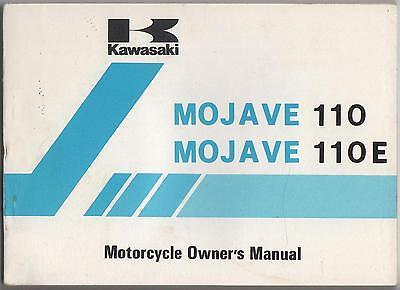 1987 Kawasaki Atv Mojave 110/ Mojave 110e Owners Manual