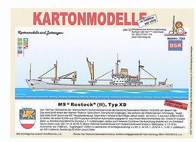 MDK-Verlag 7063 - Kartonmodell - MS Rostock - Typ XD - 1:250