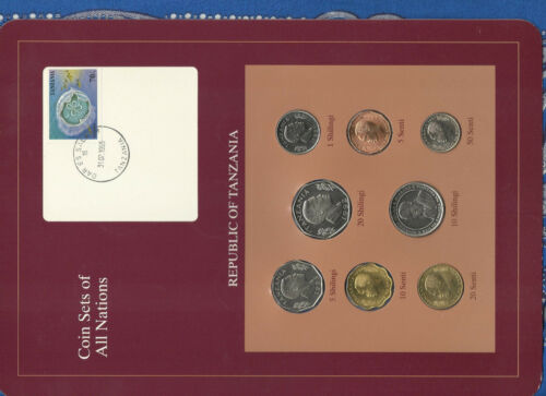 Coin Sets of All Nations Tanzania UNC 1981-1993 20 Shilingi 1992 10 Shilingi 93