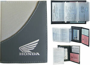 pochette etui porte carte grise honda permis de conduire assurance ebay. Black Bedroom Furniture Sets. Home Design Ideas