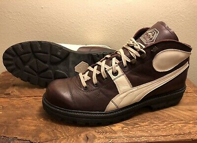 PUMA RUDOLF DASSLER Men's US 12 EUR 46 Ankle High Boots Shoes Brown Romania ()