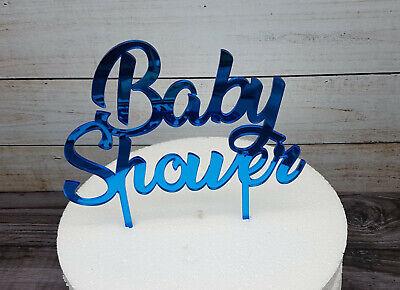 Caketopper Babyshower - blau Tortenstecker Tortenaufsatz Kuchenstecker