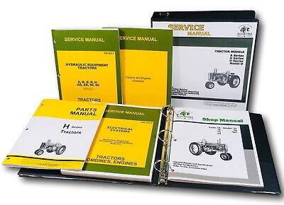 Service Parts Manual Set For John Deere H Hn Hnh Hwh Tractor Catalog Shop Book