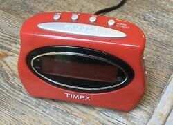 Timex T101 Extra Loud LED Alarm Clock Electric with Backup Battery Working