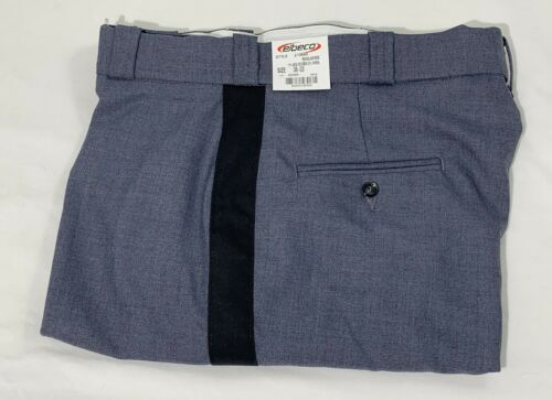 Elbeco Uniform Pants E1494R 75% Polyester 25% Wool Regular Rise Black Stripe