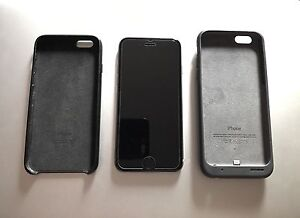 Unlocked iPhone 6S 128gb Space Grey w/ smart battery case