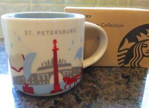 NWT Starbucks ST. PETERSBURG Russia You Are Here YAH Collector Series Mug w/ SKU
