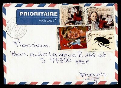 DR WHO 2000 CENTRAL AFRICAN REPUBLIC BANGUIA PRIORITY AIRMAIL TO FRANCE  g16505
