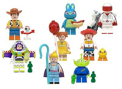 Lego Toy Story 4 Minifigures - Lot of 8 - Main Cast: Buzz Woody Jessie + More