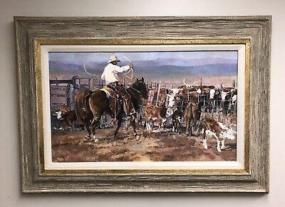 Tom Dorr The Best Roper Oil On Board Framed