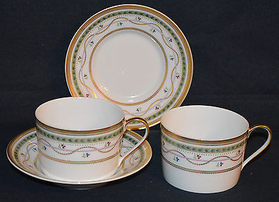 FABERGE China LUXEMBOURG Green - 2 Cup and Saucers  Limoges France
