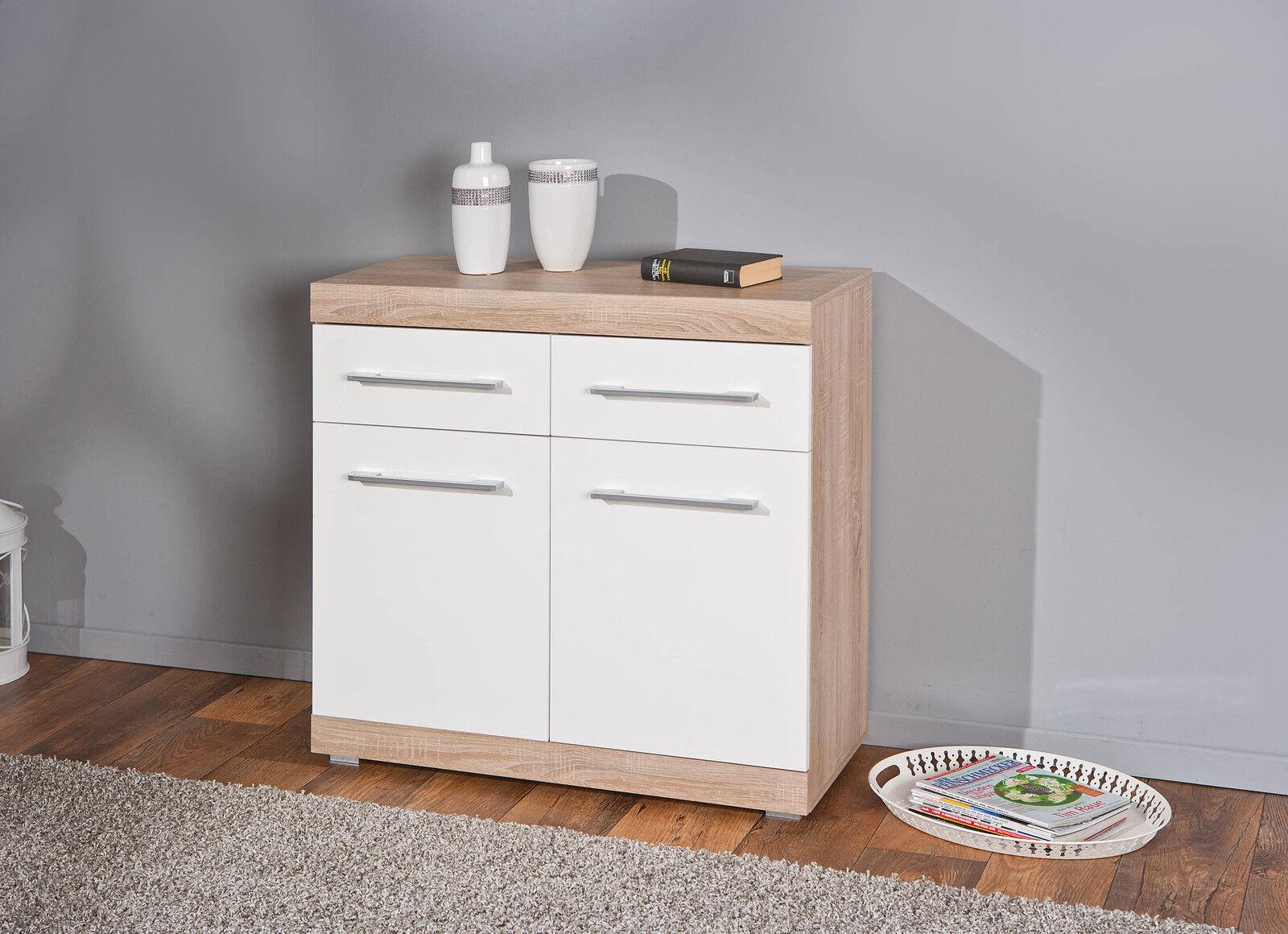 kommode sideboard holzkommode schrank holz hochglanz wei. Black Bedroom Furniture Sets. Home Design Ideas