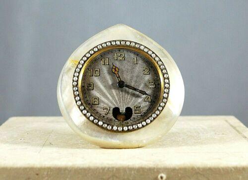 Lancel Vintage Miniature travel clock with pendulum