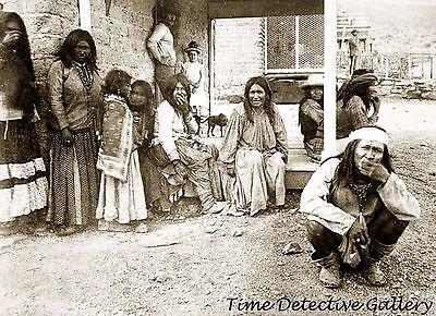 Chiricahua Apache Prisoners at Fort Bowie, Arizona - 1884 - Historic Photo Print