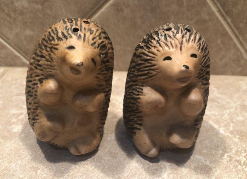 Vintage Hedgehog Salt And Pepper Shakers