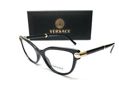 Versace VE3270Q GB1 Black Demo Lens Women Eyeglasses Frame 52-16