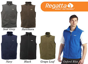 REGATTA-MENS-FULL-ZIP-TOBIAS-FLEECE-BODY-WARMER-CHOOSE-SIZE-COLOUR