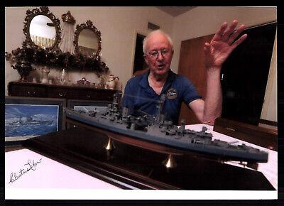 Cleatus Lebow Original Signiert Kriegsschiff Besatzung 1945 USA ## G 17728