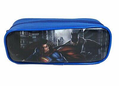 Batman vs Superman Blue Pencil Pouch Zippered Pencil Case Authentic Bag (Batman School Supplies)