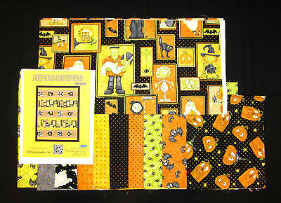 Halloween Quilt Kits (HALLOWEEN JEEPERS CREEPERS Pieced Quilt Kit and Backing on 100% COTTON)